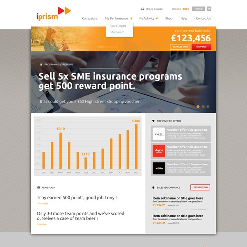 Insurance Programs reward website