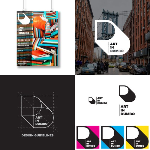 Bold logo for Art in Dumbo