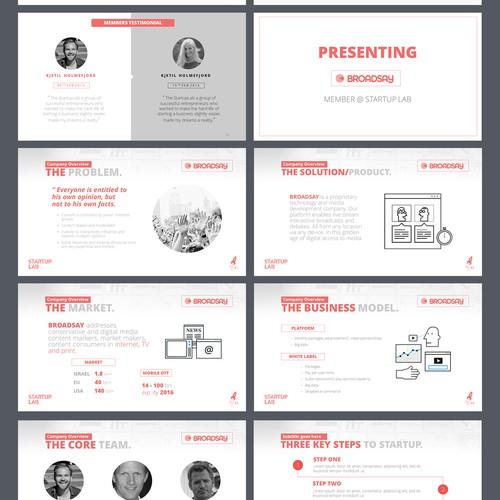 Powerpoint Template/Presentation for Start-up Tech.