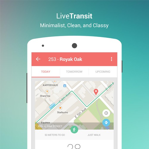 Minimalist App Design for Live Transit
