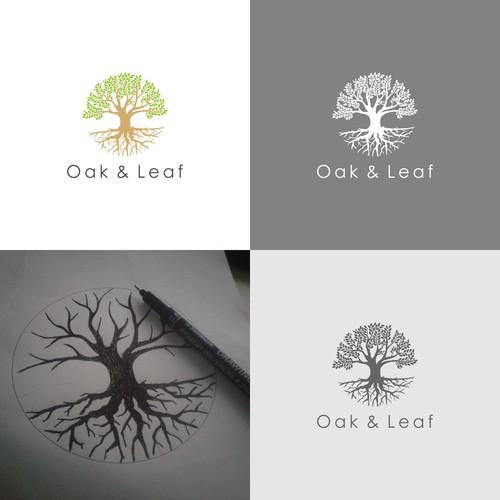 Logo for Oak and Leaf