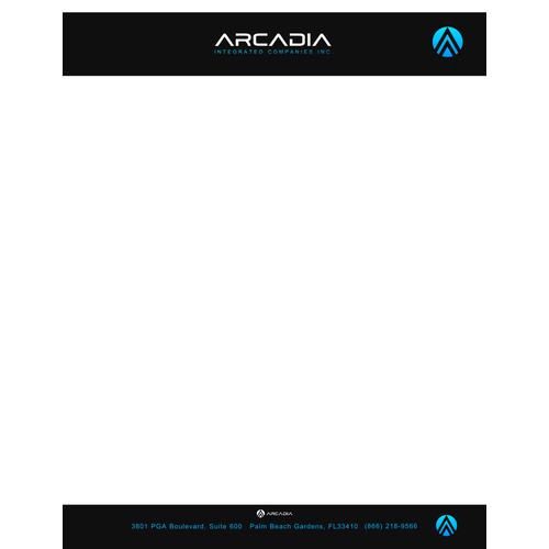 Arcadia custom letterhead