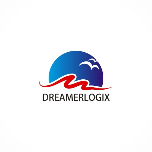 Create a powerful logo for DreamerLogix, a social impact startup.