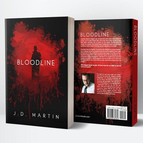 Book Cover Design for Bloodline by J. D. Martin