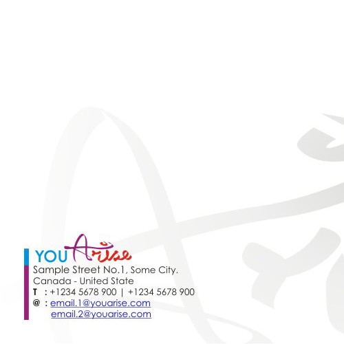 "Letterhead for the name ""You Arise"""