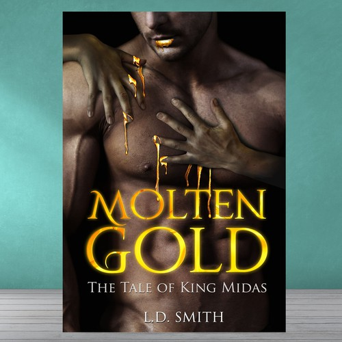 Creative eBook cover for a twisted erotic retelling of the King Midas legend
