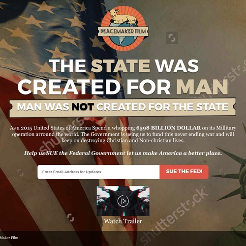 Encourage Patriotic Feel to a landing page