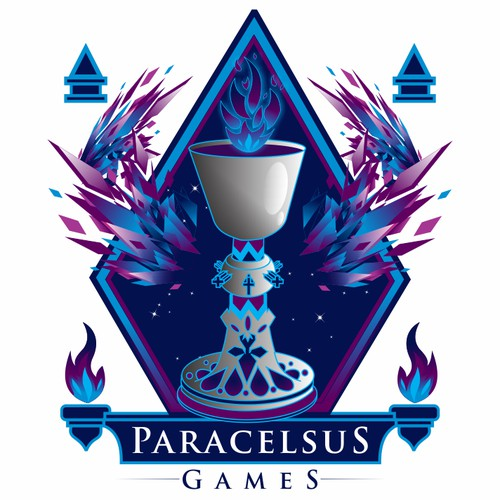 Create a magical logo for Paracelsus Games