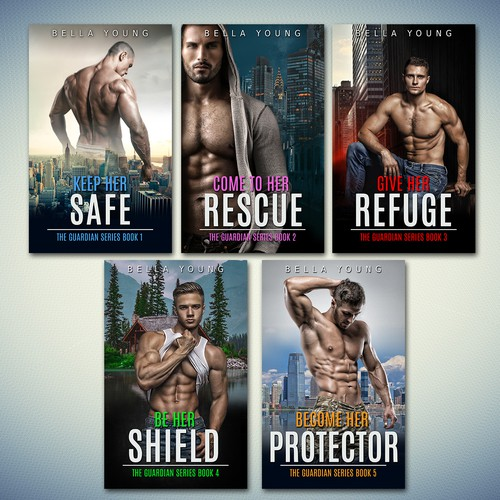 Books covers for a romance novels BELLA YOUNG