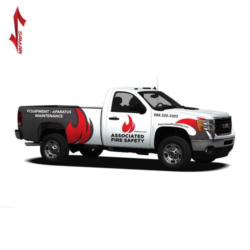 Brand based Truck wrap design