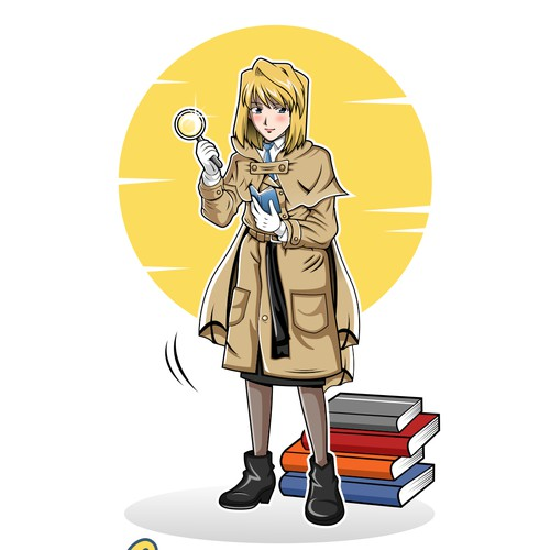 Design a New Logo for Woman Detective Agent Character and Her Literary Agency!