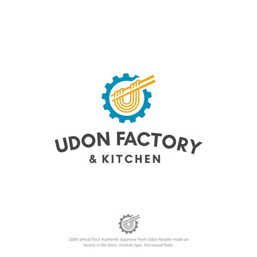 Udon factory and kitchen logo