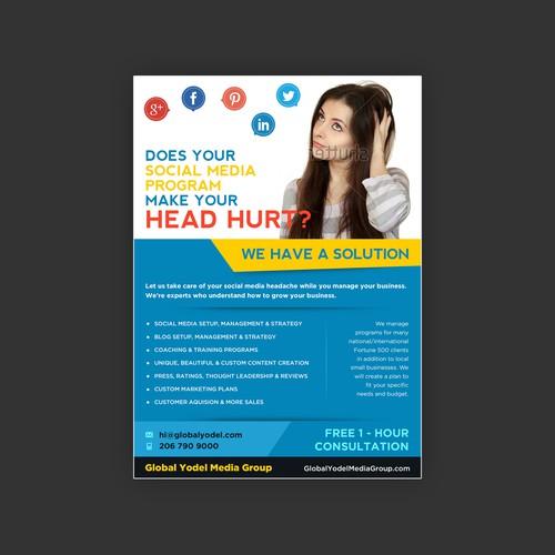 Flyer design for Global Media Group