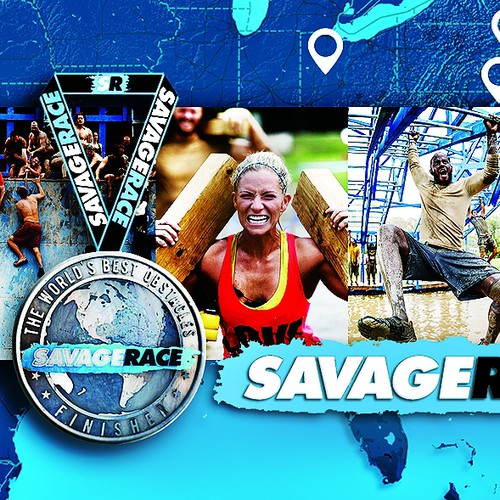 Design a Finisher Medal for Savage Race - An Obstacle Course Mud Run