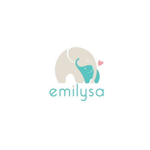 Cute and bold logo for baby textile products.