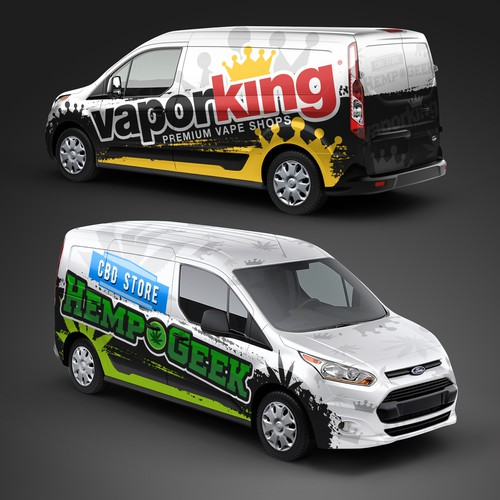 Vapor King & Hemp Geek Van Wrap