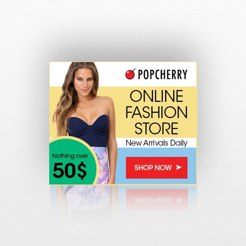 Create catchy ads for a womens online fashion store!