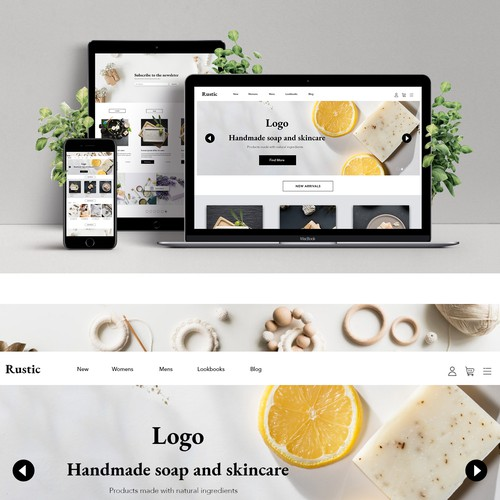 E-commerce Landingpage for Handmade / Crafts