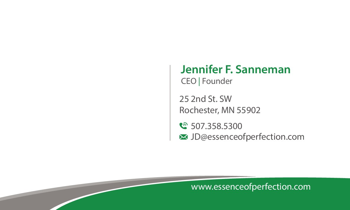 Business card for Essence of Perfection