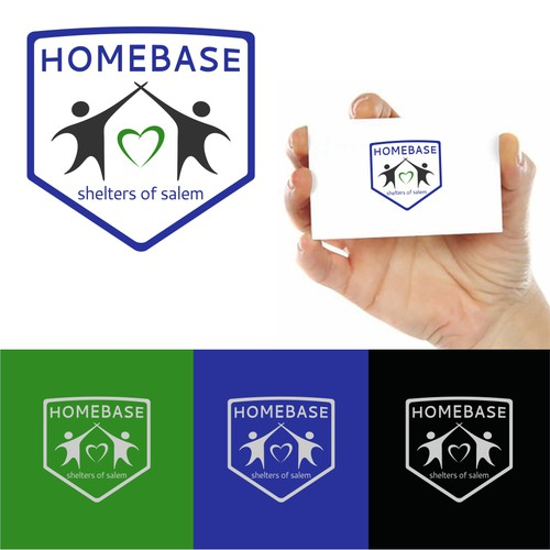 Home base shelter logo