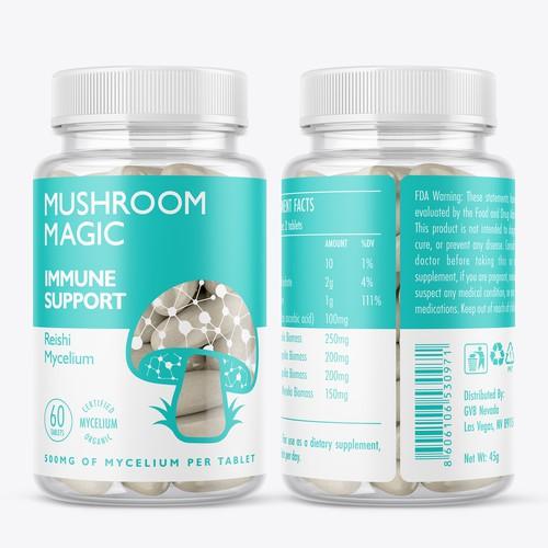 Immune support pils label