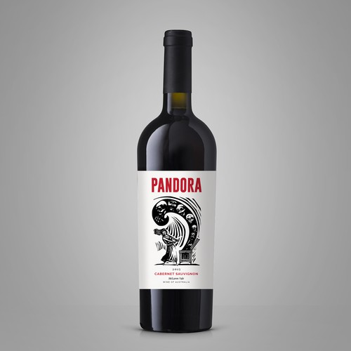 Wine Label 'Pandora'