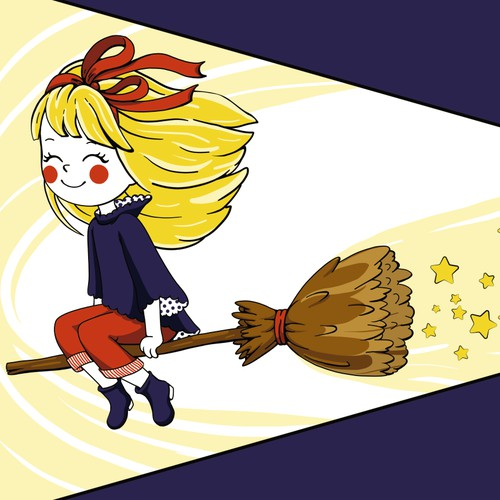 Cheerful little witch