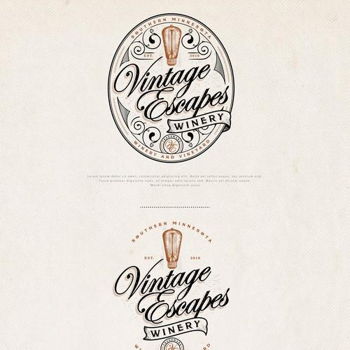Logo Design for Vintage Escapes Winery