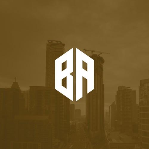 BA - Modern Monogram