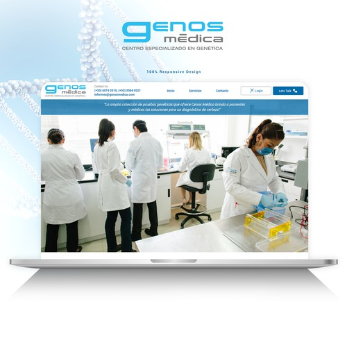 Webdesign for GENOS MÉDICA