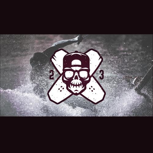 skull wakeboarding logo