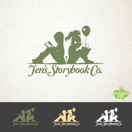 Jen's Storybook Co. Logo Concept