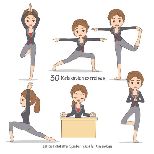 creates of funny character for business yoga