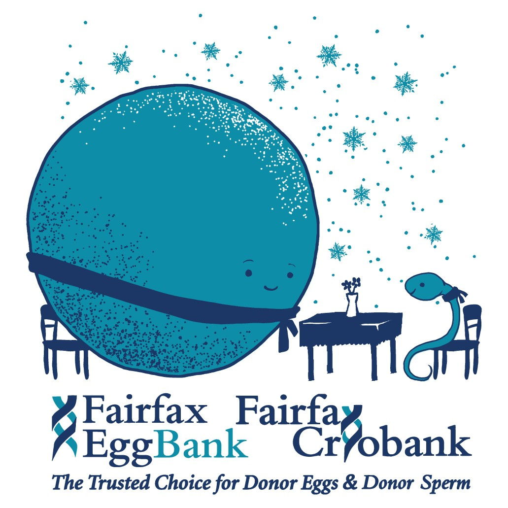 Design a funny or artsy t-shirt featuring sperm and eggs for Fairfax EggBank and Cryobank