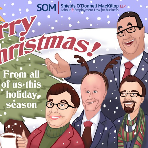 Cooperate christmas card based on employee photos