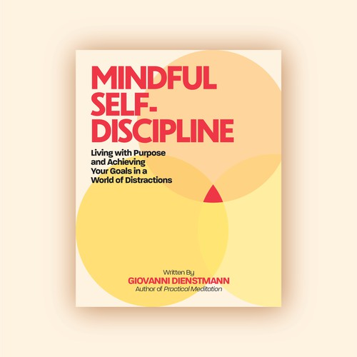 Bold and clean cover for a self-discipline book