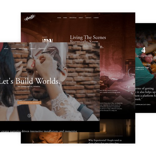 Squarespace website for an entertainment studio