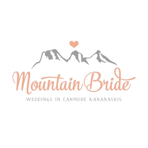 Create a beautiful logo for Mountain Bride