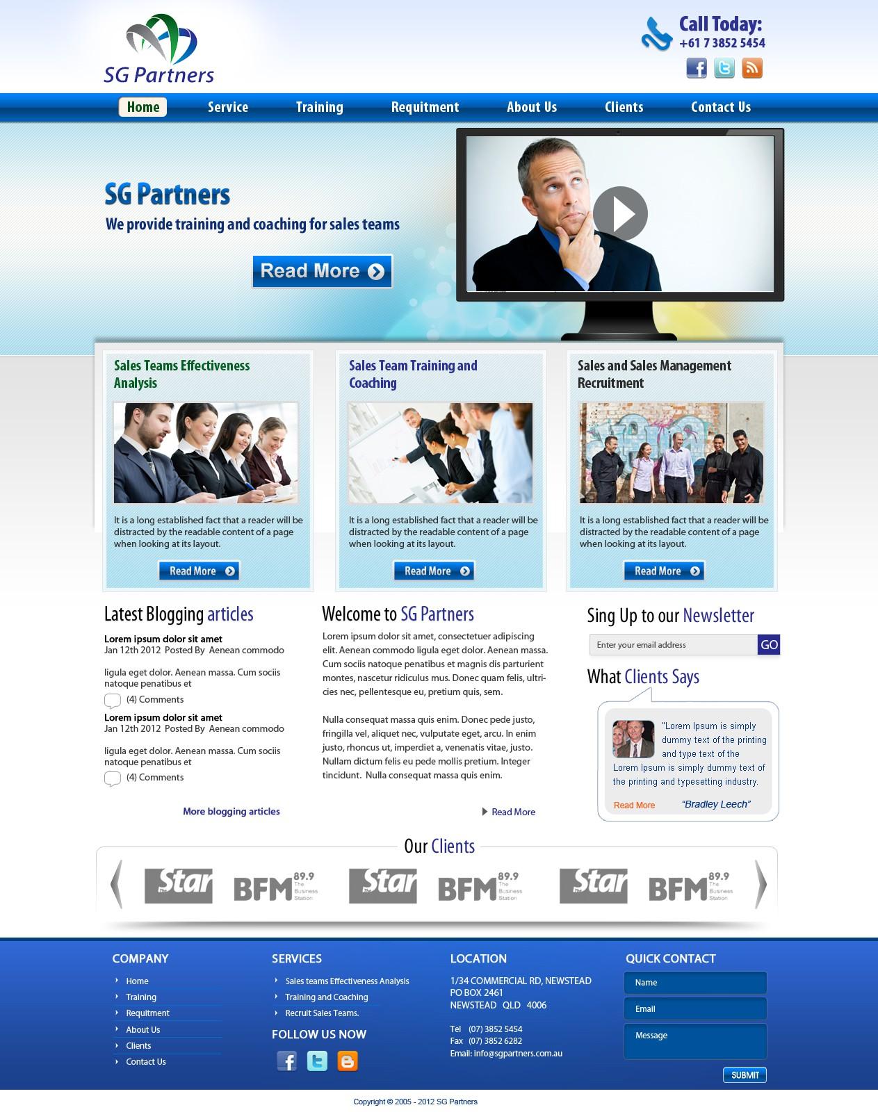 SG Partners needs a new website design