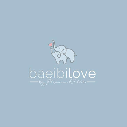 Cute logo concept for baby clothing