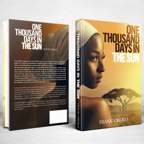Book cover design for novel One Thousand Days In The Sun