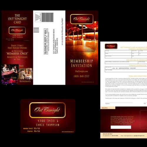 The Out Tonight Card Brochure