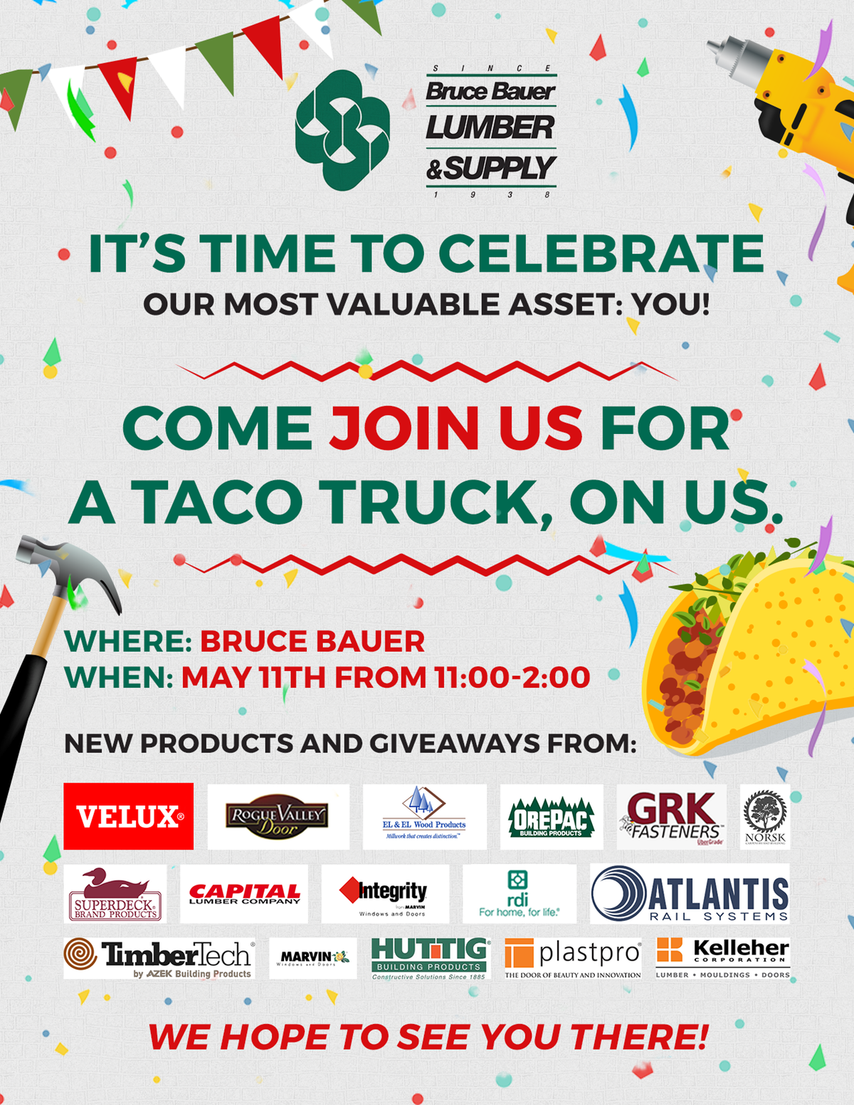 One page flyer for customer appreciation day
