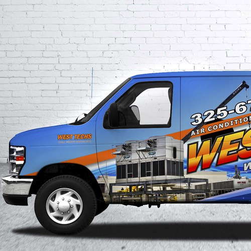 Create a graphic design / van wrap promoting large tonnage chillers