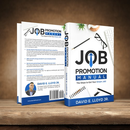 book cover concept for JOB PROMOTION MANUAL