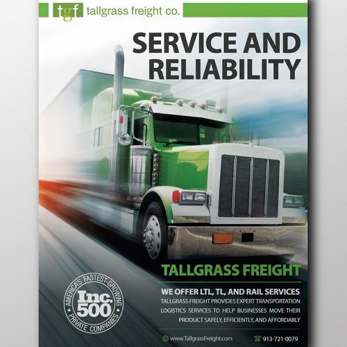 Transportation company poster