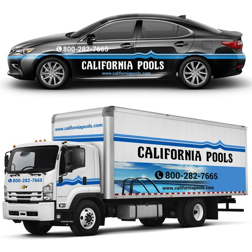California Pools Vehicle Wrap