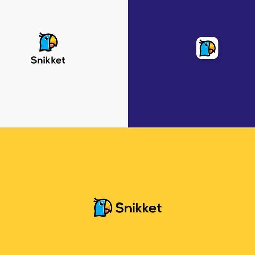 Snikket chat app logo design