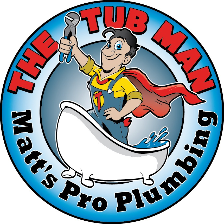 Fun character logo for residential plumber