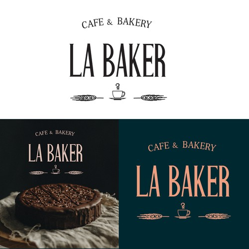 Logo proposal for cafe&bakery concept.